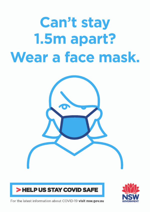 Wear a face mask poster